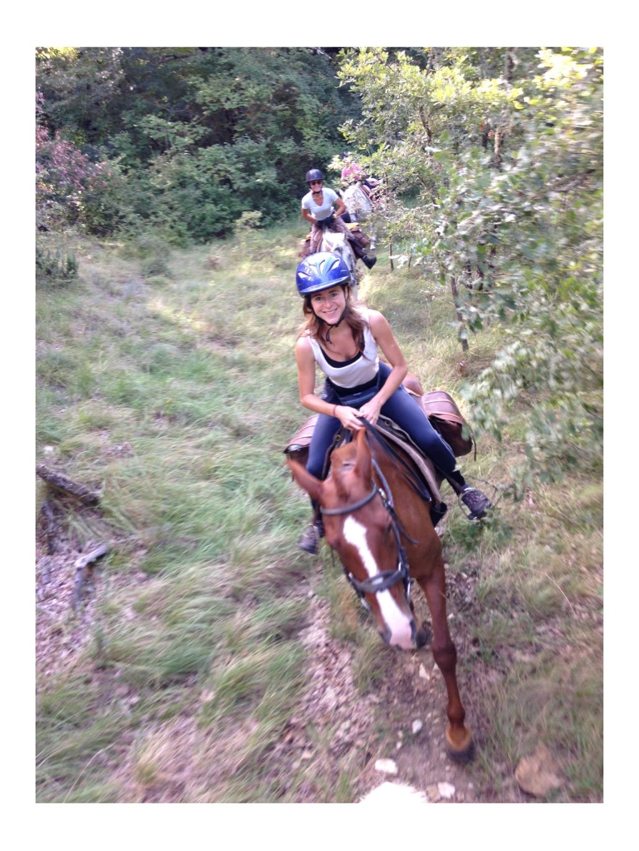 sourire cheval randonnée agréable nomade