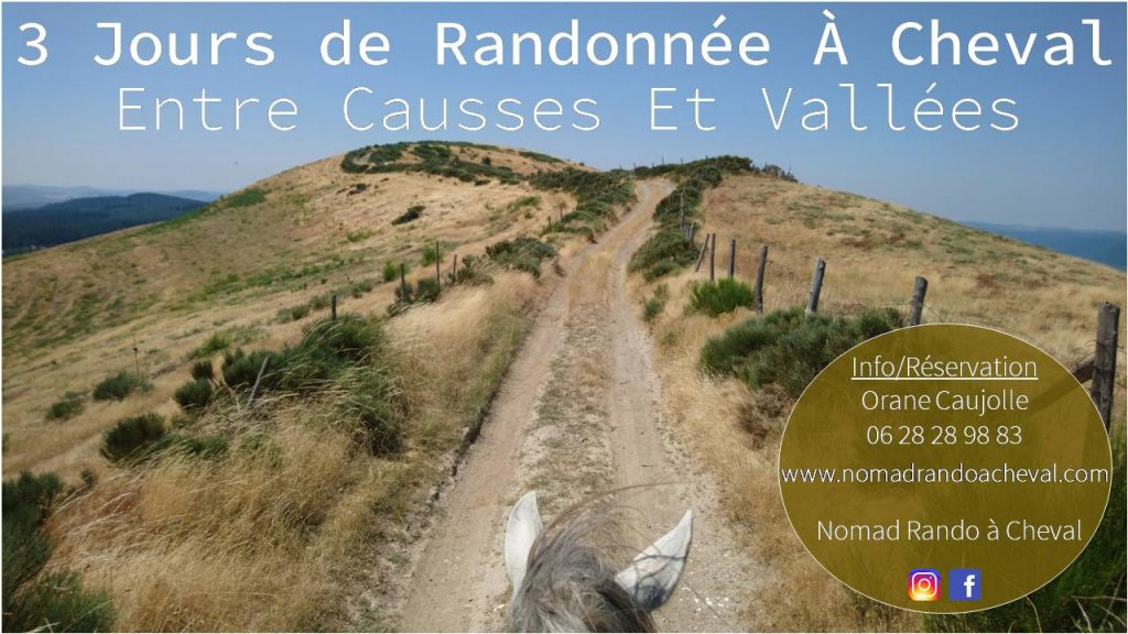 nomadrandoacheval programme 2020 voyage itinérance tourisme cheval nature horse larzac