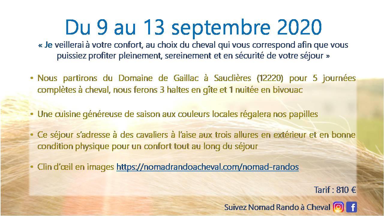nomadrandoacheval dates déroulement