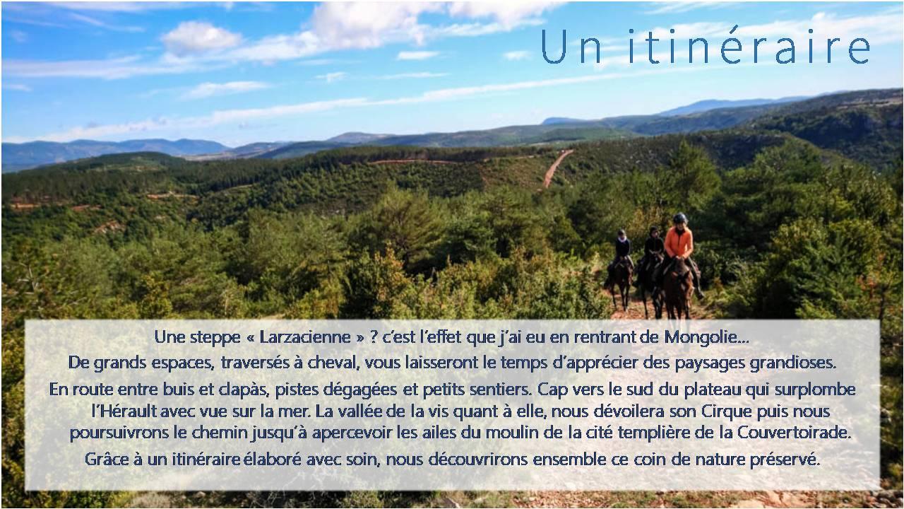 nomadrandoacheval itinéraire description nature paysage randonnee cheval
